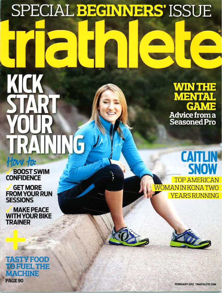 February 2012 Triathlete Cover