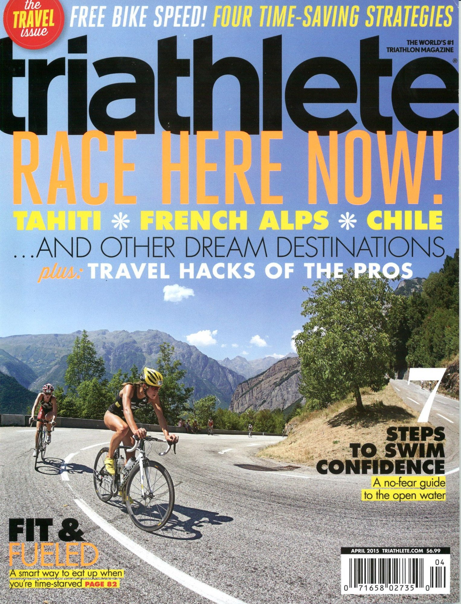 April 2015 Triathlete Cover