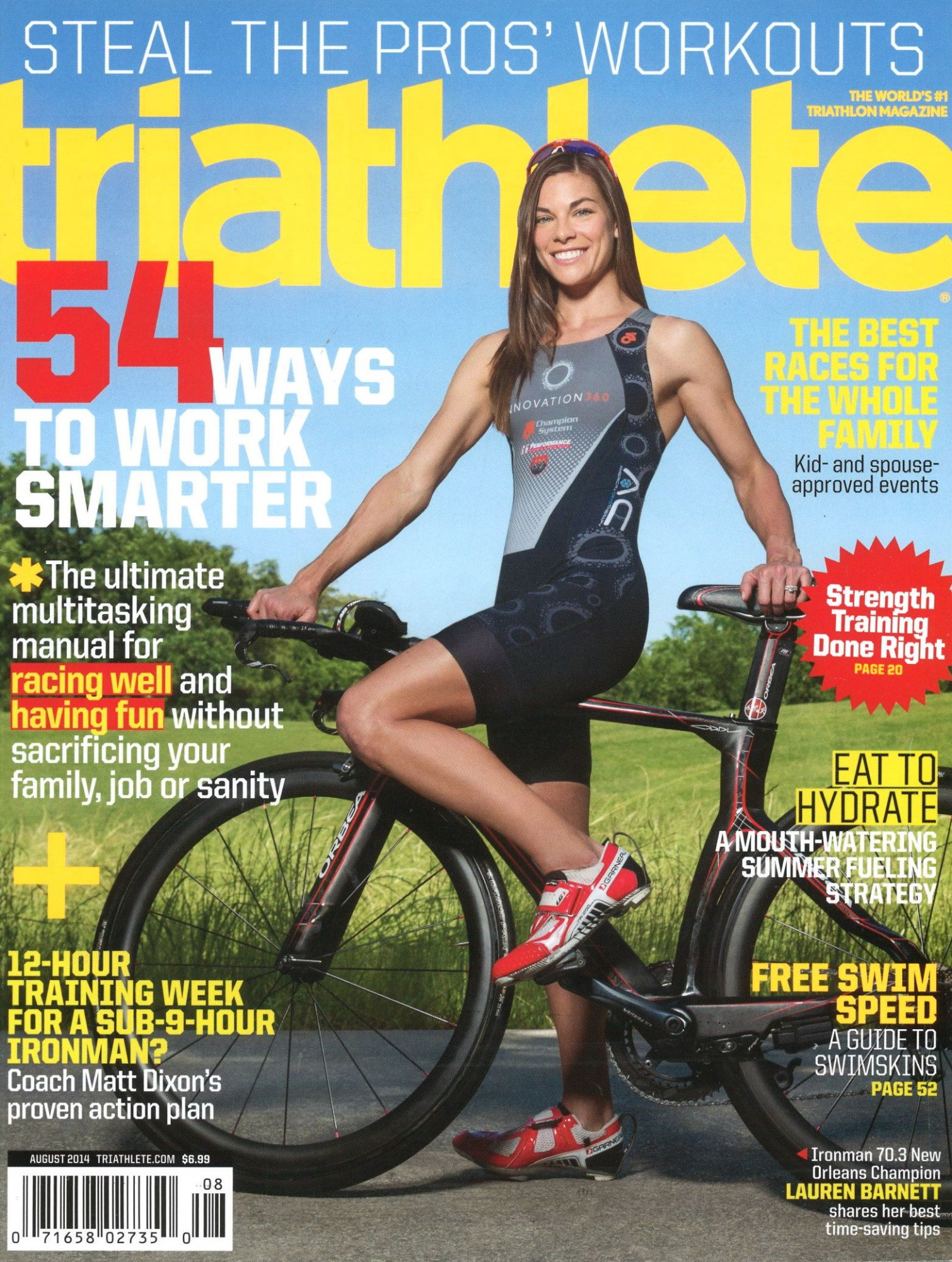 August 2014 Triathlete Cover