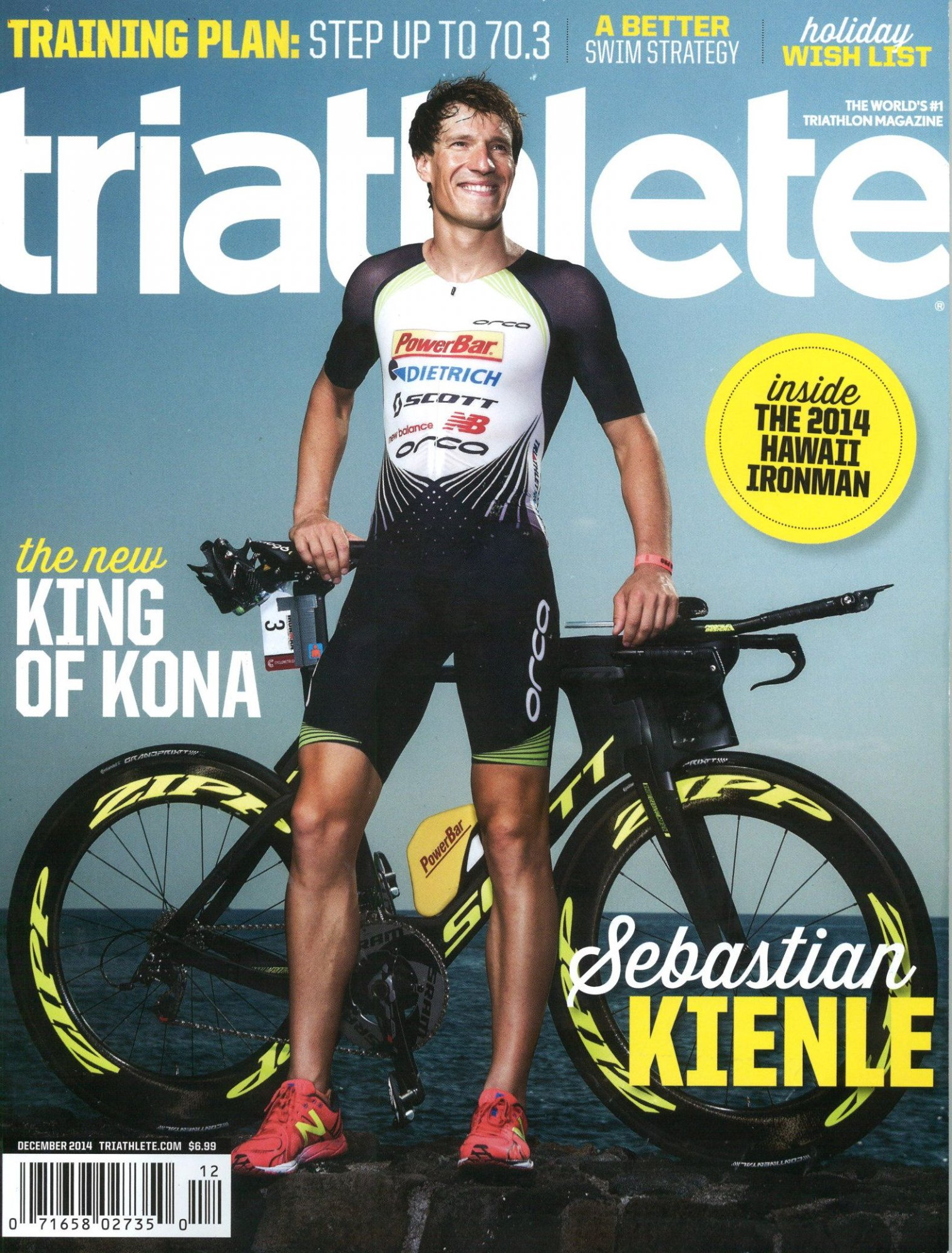 December 2014 Triathlete Cover