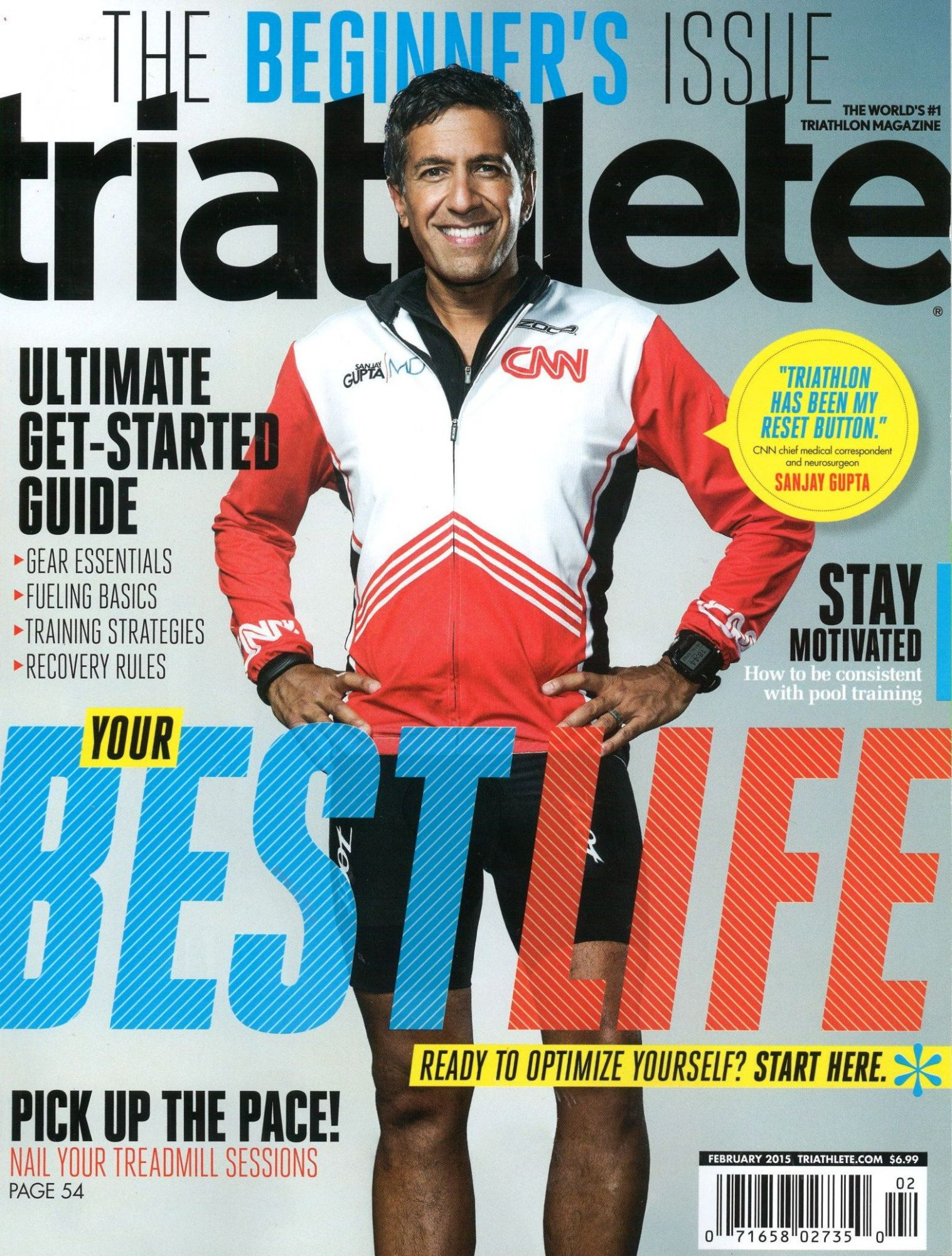 February 2015 Triathlete Cover