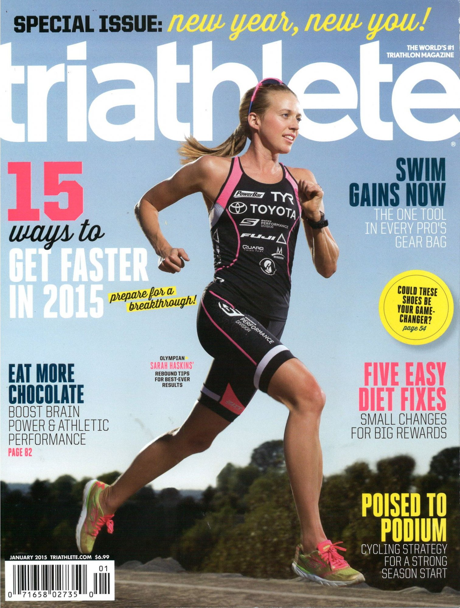 January 2015 Triathlete Cover