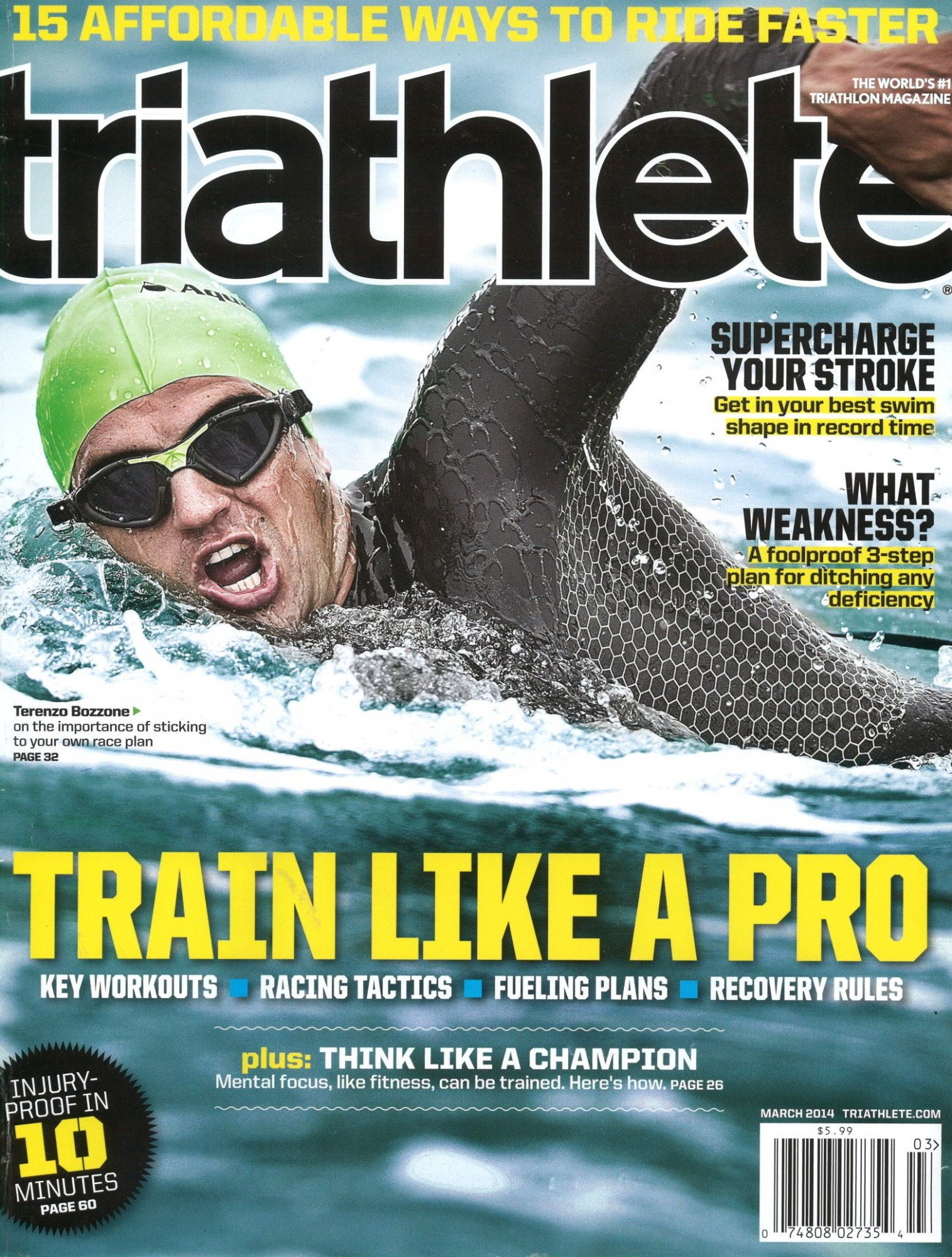 March 2014 Triathlete Cover