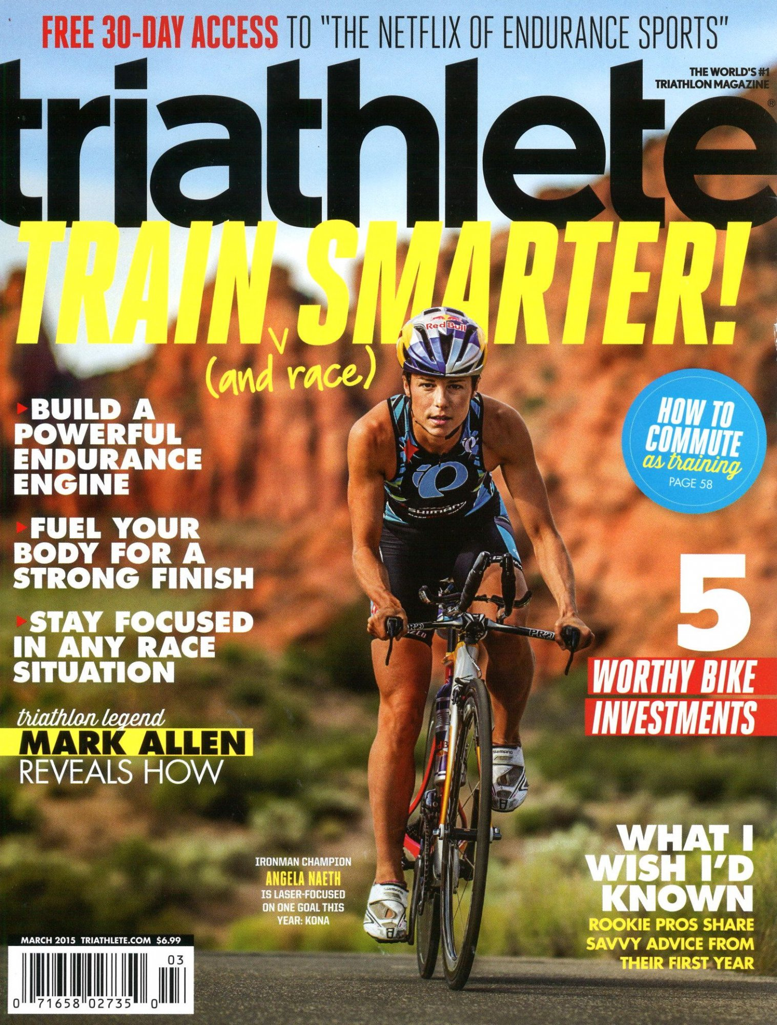 March 2015 Triathlete Cover