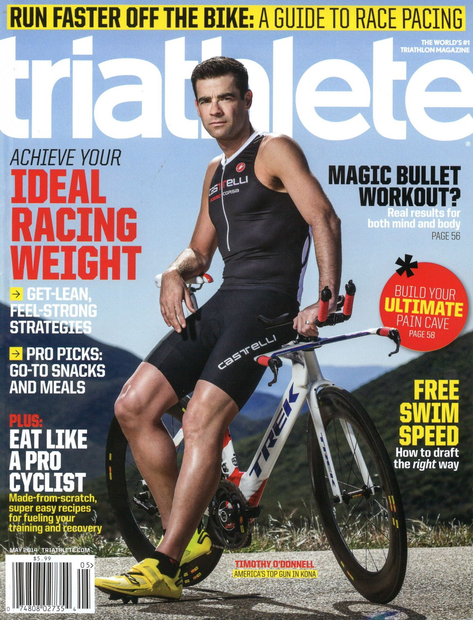 May 2014 Triathlete Cover