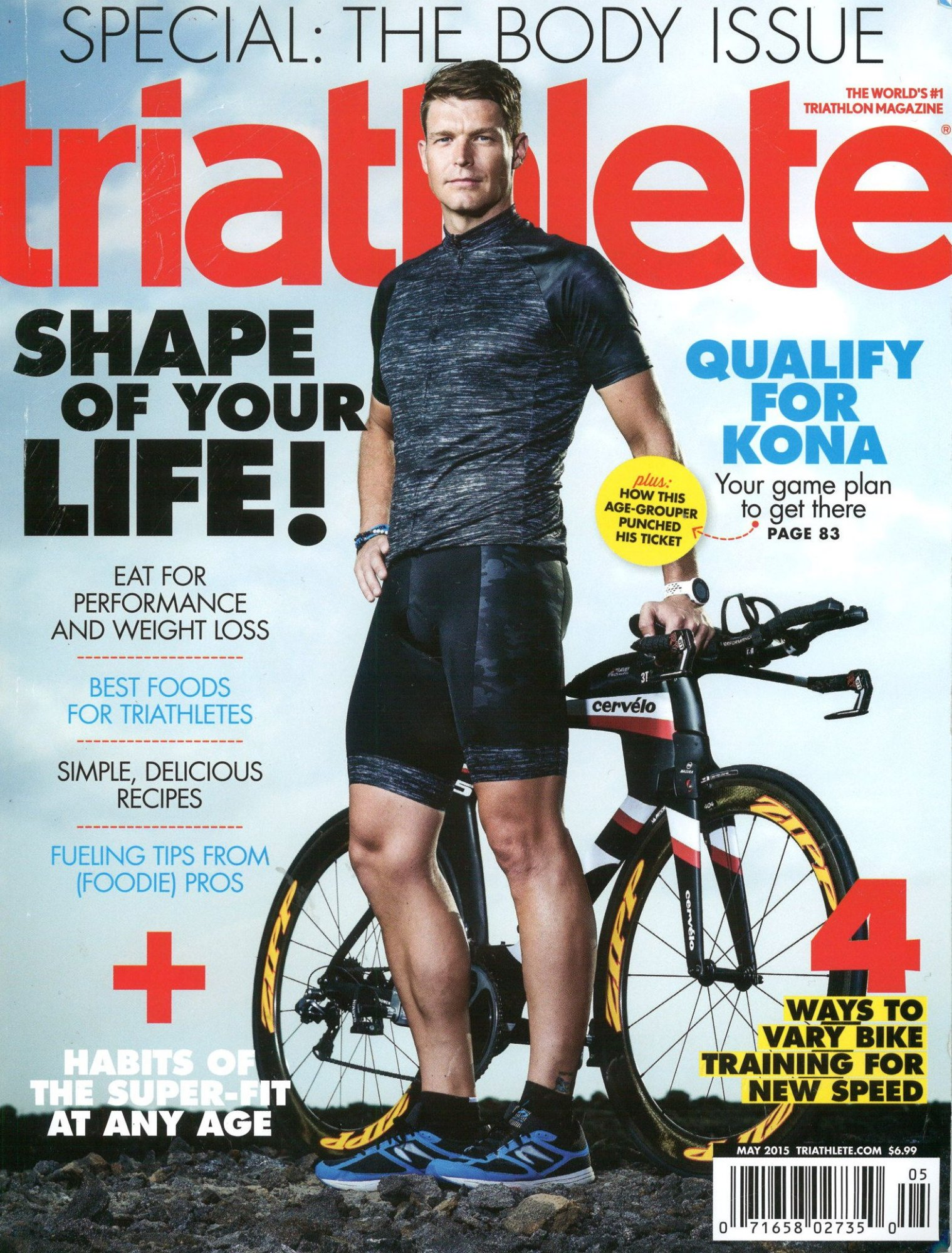 May 2015 Triathlete Cover
