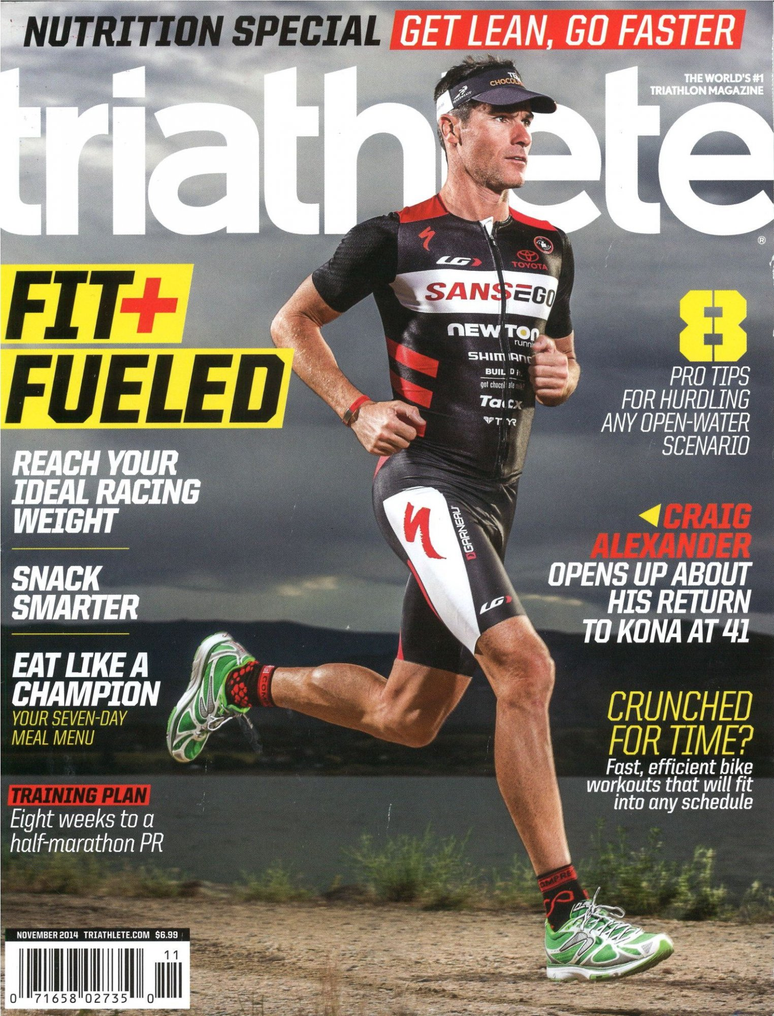 November 2014 Triathlete Cover
