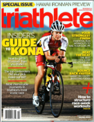 October Triathlete Cover