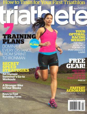 April 2013 Triathlete Cover