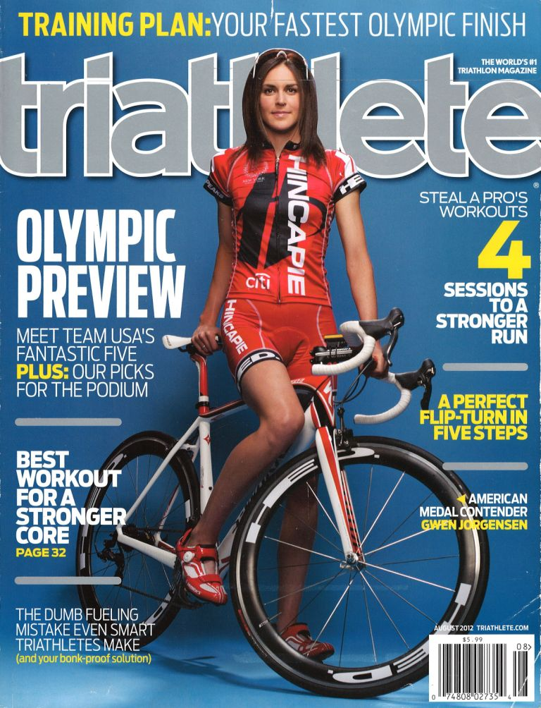 August 2012 Triathlete Cover