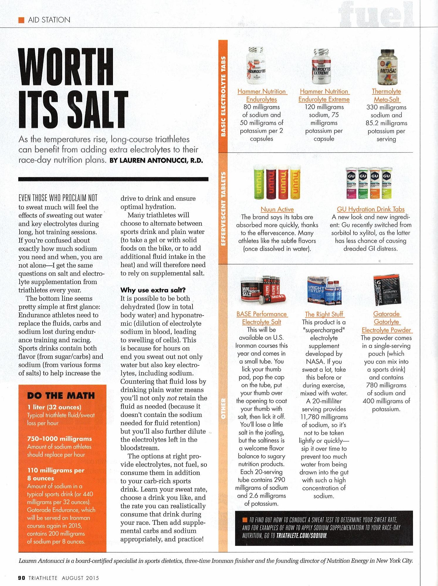triathlete magazine special hydratation