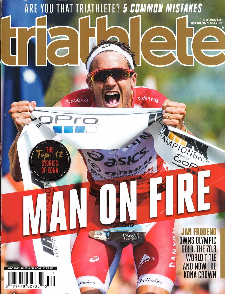 December 2015 Triathlete Cover