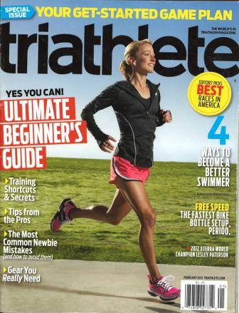 February 2013 Triathlete Cover
