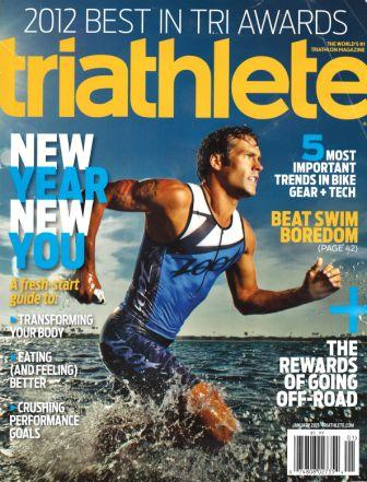 January 2013 Triathlete Cover