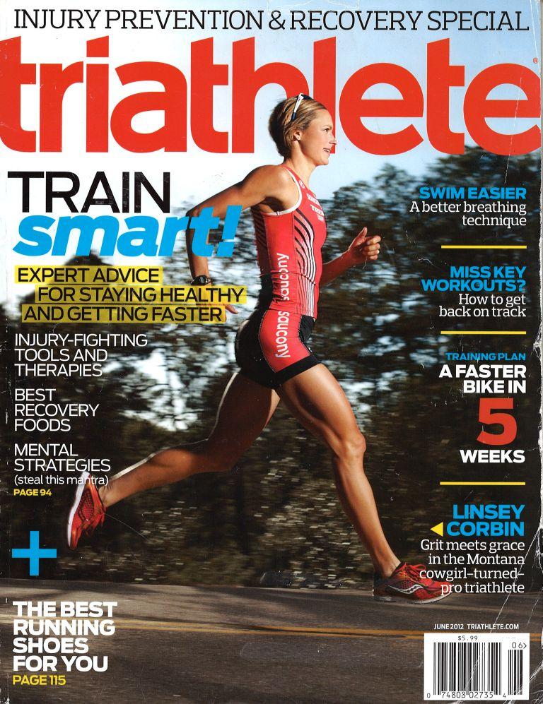 June 2012 Triathlete Cover