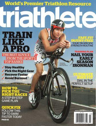 March 2013 Triathlete Cover