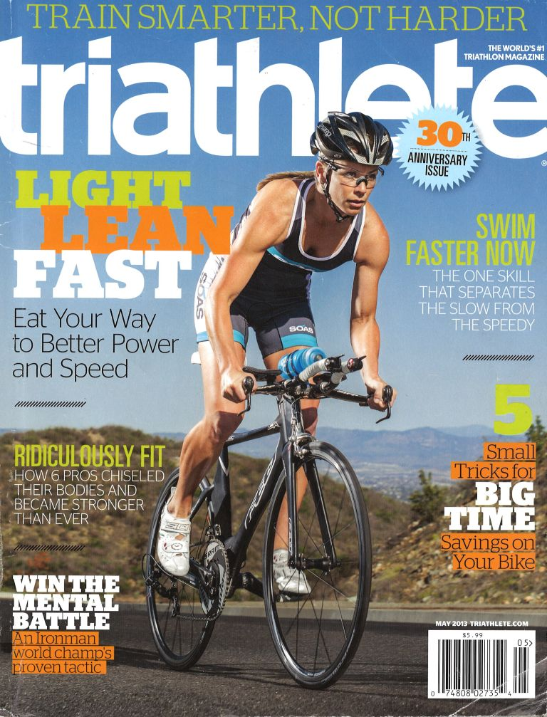 May 2013 Triathlete Cover
