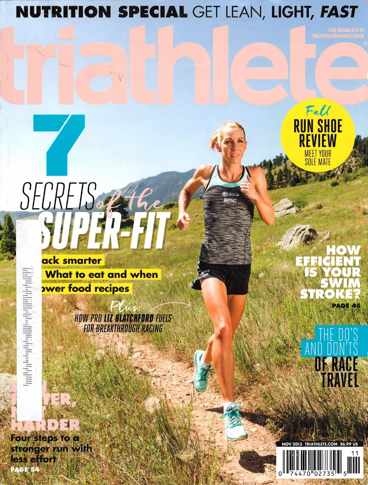 November 2015 Triathlete Cover