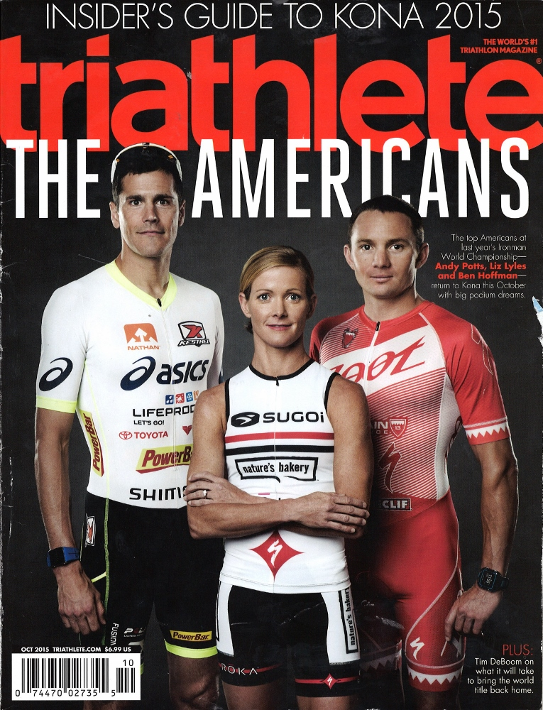 October 2015 Triathlete Cover