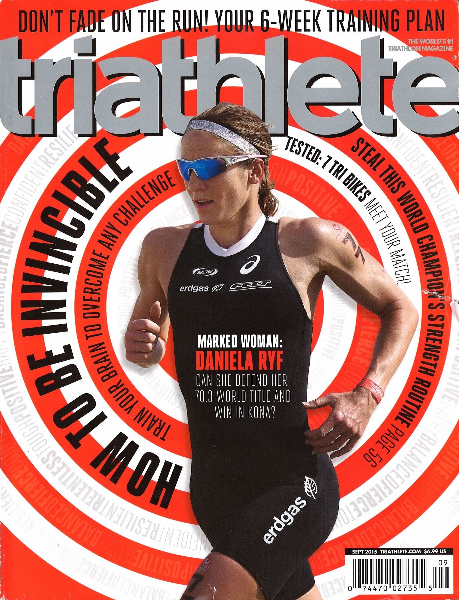 September 2015 Triathlete Cover