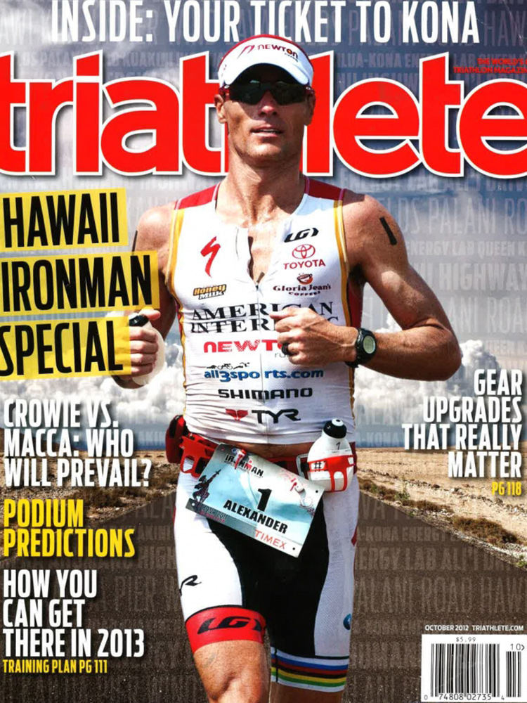 October 2012 Triathlete Cover