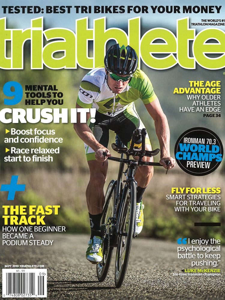 September Triathlete Cover